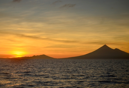 Father's Volcano Sunrise