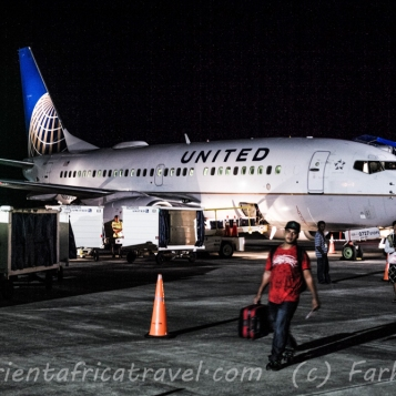 Most people arrive in Yap on United Airlines