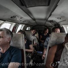 inside the PMA Queen air
